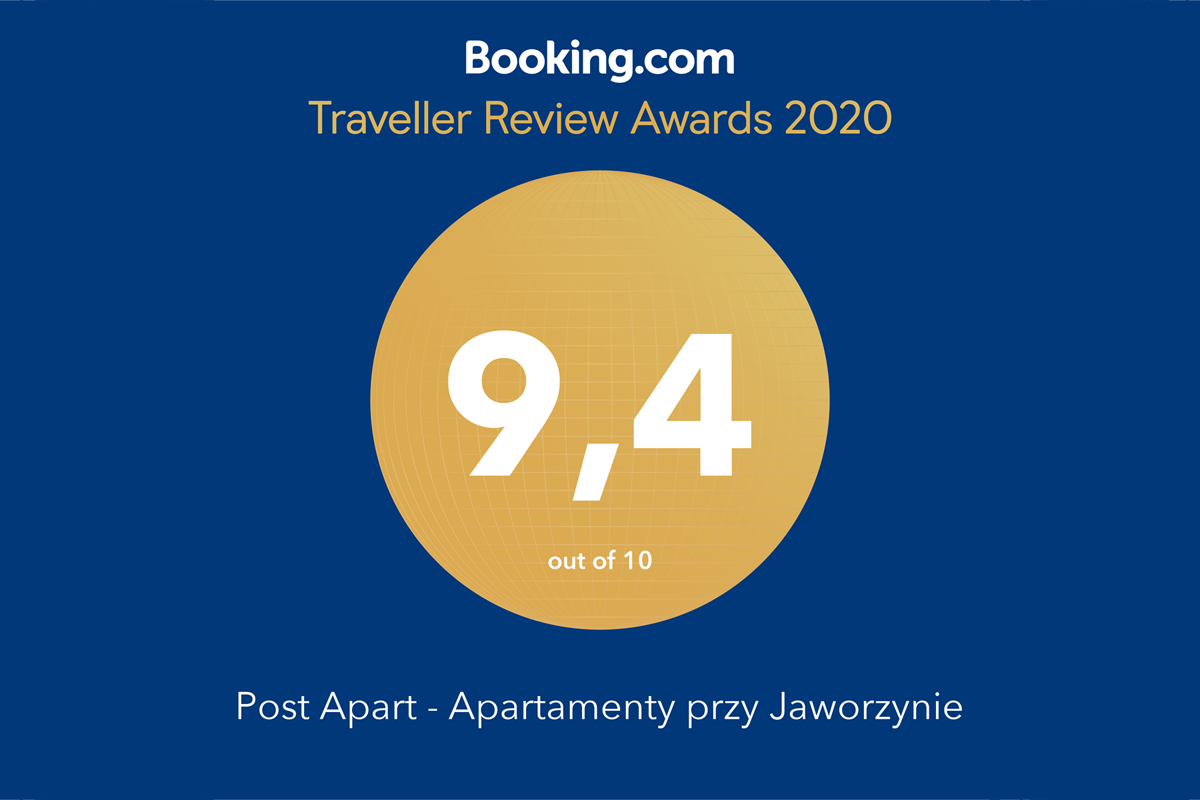 Apartament Widokowy POST APART z nagrodą Traveller Review Awards 2020