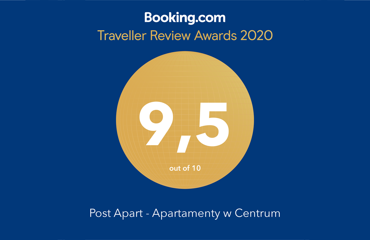 Apartament Zielony POST APART z nagrodą Traveller Review Awards 2020