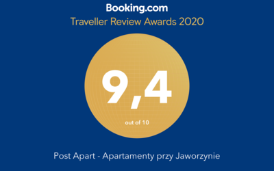 Apartament Miodowy - Booking awards 2020